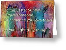 Easter Inspiring Digital Painting Greeting Card