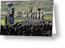 Easter Island 4 Greeting Card