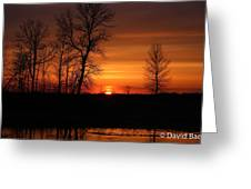 Easter Sunset Greeting Card