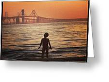 Eastern Shore Water Baby Greeting Card
