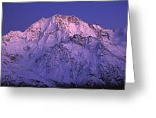 Eastern Side Of Mt Cook Pre-dawn Greeting Card