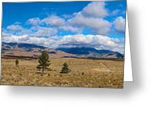 Eastern Sierras 28 Pano Greeting Card