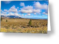 Eastern Sierras 29 Pano Greeting Card