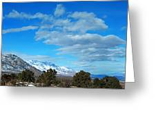 Eastern Sierras Panoramic - U S 395 California Greeting Card