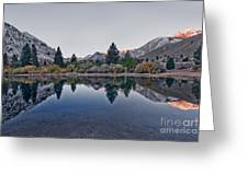 Eastern Sierras Reflection Greeting Card