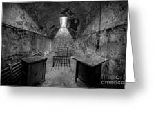Eastern State Penitentiary Bw Greeting Card