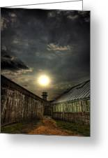 Eastern State Penitentiary Sunset Greeting Card