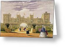 Eastern View Of The Castle And Garden Greeting Card