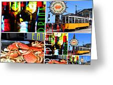 Eat Drink Play Repeat San Francisco 20140713 Horizontal Greeting Card