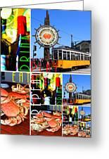 Eat Drink Play Repeat San Francisco 20140713 Vertical V2 Greeting Card