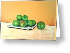 Eat Green Greeting Card