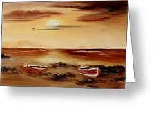 Ebb Tide And Stranded Greeting Card