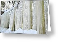 Eben Ice Caves Greeting Card
