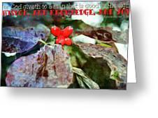 Ecclesiastes 2 26 Greeting Card