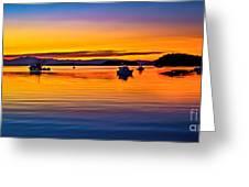 Echo Bay Sunset Greeting Card