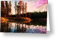 Echo Lake In Montana Greeting Card by Deahn   Benware