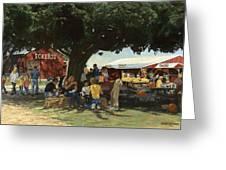 Eckert's Market Under Big Tree Greeting Card