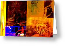 Eclectic Things Collage Greeting Card
