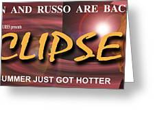 Eclipse Faux Movie Banner Greeting Card