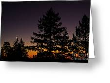 Eclipse In Yosemite Greeting Card
