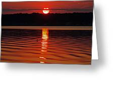 Eclipse Sunset Greeting Card