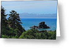 Ecola State Park Overlook  Greeting Card