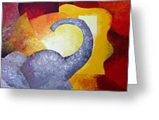 Ecstasy Greeting Card by Draia Coralia