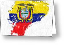 Ecuador Painted Flag Map Greeting Card