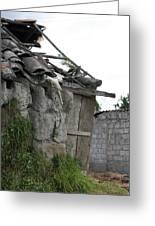 Ecuadorian House Falling Into Ruin Greeting Card