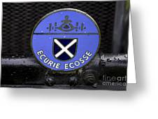 Ecurie Ecosse Badge Greeting Card