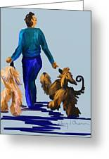 Eddie Dancing With Dogs Greeting Card