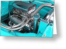 Edelbrock In A Chevy 3100 Hotrod Greeting Card