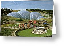 Eden Project 2002 Greeting Card by David Davies