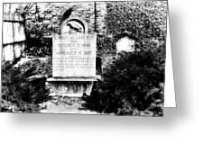 Edgar Allen Poe Grave Site Baltimore Greeting Card