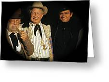Edgar Buchanan Chills Wills  Johnny Cash Porch Old Tucson Arizona 1971-2008 Greeting Card