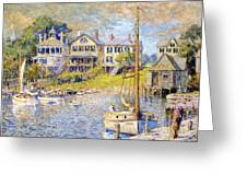 Edgartown  Martha's Vineyard Greeting Card by Colin Campbell Cooper