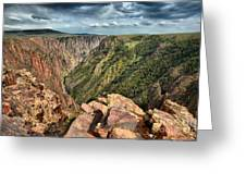 Edge Of The Black Canyon Greeting Card