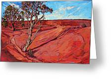Edge Of The Canyon Greeting Card by Erin Hanson