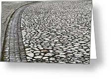 Edge Of The Old Stone Road Greeting Card