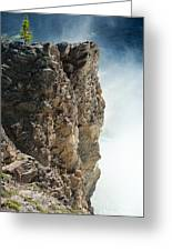 Edge Of The Upper Falls Greeting Card