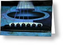 Edgy Abstract Eclectic Guitar 17 Greeting Card
