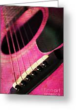Edgy Pink Guitar  Greeting Card