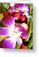 Edible Flowers Greeting Card