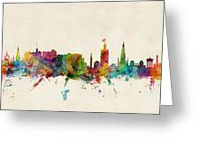 Edinburgh Scotland Skyline Greeting Card