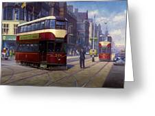 Edinburgh Tram 1953. Greeting Card