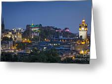 Edinburgh Twilight Greeting Card