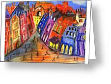 Edinburgh's Royal Mile  Greeting Card