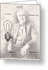 Edison And Electric Lamp Patent Greeting Card