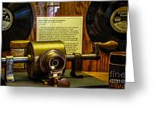 Edison Foil Phonograph Greeting Card