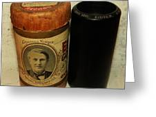 Edison Phonograph Cylinder 9750 Comic Song  Garibaldi  Greeting Card by Bill Cannon